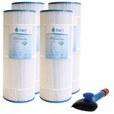CX-1200-RE Comparable Pool and Spa Filter (4-Pack) and Pool Filter Cleaning Brush by Tier1