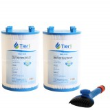 1561-00 Comparable Pool and Spa Filter (2-Pack) and Pool Filter Cleaning Brush by Tier1