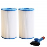 31489 Comparable Pool and Spa Filter (2-Pack) and Pool Filter Cleaning Brush by Tier1