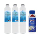 DA29-00020B Samsung Comparable Refrigerator Water Filter Replacement and Glisten Dishwasher Magic Dishwasher Cleaner Bundle by Tier1 (3-Pack)