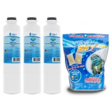 DA29-00020B Samsung Comparable Refrigerator Water Filter (3-Pack) and E-150 Eva-Dry Silica Gel Twin Pack by Tier1
