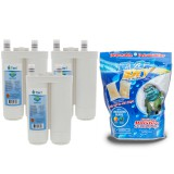 WF2CB Frigidaire / EWF01 / EWF2CBPA Electrolux Comparable Refrigerator Water Filter  (3-Pack) and E-150 Eva-Dry Silica Gel Twin Pack by Tier1