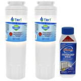 EDR4RXD1 EveryDrop UKF8001 Maytag Comparable Refrigerator Water Filter Replacement and Glisten Dishwasher Magic Dishwasher Cleaner Bundle by Tier1 (2-Pack)