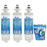 LT700P LG Comparable Refrigerator Water Filter (3-Pack) and E-150 Eva-Dry Silica Gel Twin Pack by Tier1
