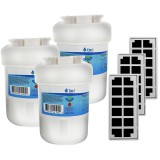 GE MWF & Odorfilter Comparable Refrigerator Water & Air Filter Combo 3-Pack by Tier1