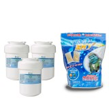 MWF GE Comparable Refrigerator Water Filter (3-Pack) and E-150 Eva-Dry Silica Gel Twin Pack by Tier1