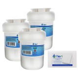 GE MWF Comparable Refrigerator Water Filter Replacement (3-Pack) and Magic Cleaning Sponge (12-Pack) kit by Tier1