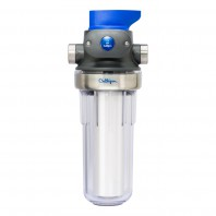 WH-S200-C Culligan Standard Clear Whole Home Filter Housing With Bypass and Shut Off Valve