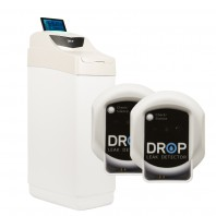 Drop Connect 24,000 Grain Cabinet Softener with Drop Hub, and Leak Detectors