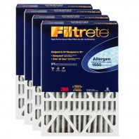 3M Filtrete 1550 Allergen Reduction Air Filter - 16x25x4 (4-Pack)
