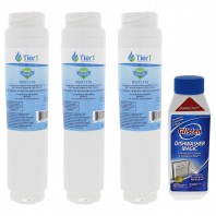 644845 / UltraClarity REPLFLTR10 Bosch Comparable Refrigerator Water Filter Replacement and DM06N Glisten Dishwasher Magic Dishwasher Cleaner Bundle by Tier1
