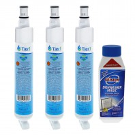EDR6D1 EveryDrop 4396701 Whirlpool Comparable Refrigerator Water Filter Replacementand DM06N Glisten Dishwasher Magic Dishwasher Cleaner Bundle by Tier1