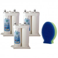 WF2CB Frigidaire / EWF01 / EWF2CBPA Electrolux Comparable Refrigerator Water Filter Replacement and DishFish (3 Pack)