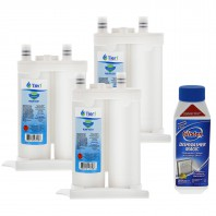 WF2CB Frigidaire / EWF01 Electrolux Comparable Refrigerator Water Filter Replacement and DM06N Glisten Dishwasher Magic Dishwasher Cleaner Bundle Tier1