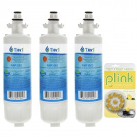 LT700P LG Comparable Refrigerator Water Filter Replacement and Plink Garbage Disposal Cleaner (3 Pack) by Tier1
