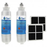 LT800P LG LT120F LG Comparable Refrigerator Water Filter and Air Filter Combo By Tier1 (2-Pack)