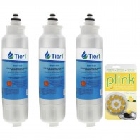 LT800P LG Comparable Refrigerator Water Filter and Plink Garbage Disposal Cleaner (3 Pack)
