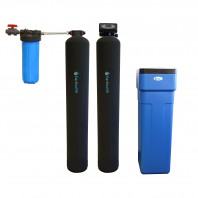 Series 10000 Whole House Carbon and KDF Water Purification and Water Softener System by Tier1