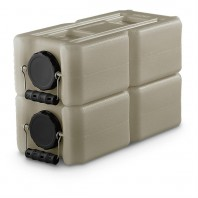 1833-0003 WaterBrick 3.5 Gallon Stackable Water and Food Storage