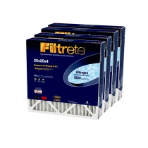3M Filtrete 1550 Allergen Reduction Air Filter - 20x20x4 (4-Pack)