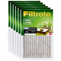 3M Filtrete 600 Dust and Pollen Filter - 12x12x1 (6-Pack)