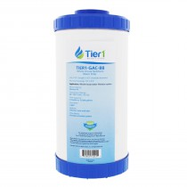GAC-BB Whole House Filter Replacement Cartridge by Tier1 (Label and Front View)