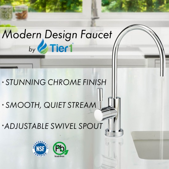 5-Stage Reverse Osmosis System by Tier1 (lead free faucet)
