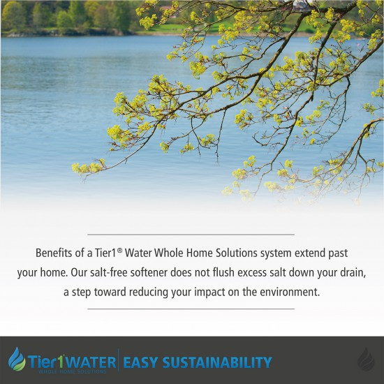 Series 8000 Whole Home Carbon and KDF + UV Water Purification and Salt Free Water Softening System by Tier1 (Sustainability)