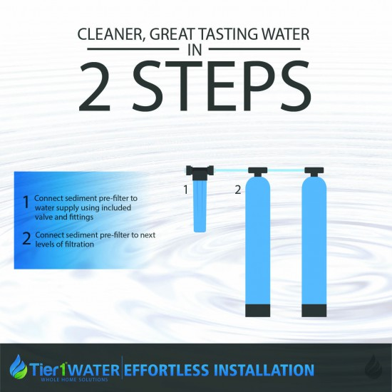 Series 8000 Whole Home Carbon and KDF Water Purification and Salt Free Water Softening System by Tier1 (2 steps)