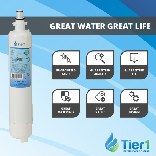 GE RPWF Comparable Refrigerator Water Filter Replacement By Tier1 (Chart 1)