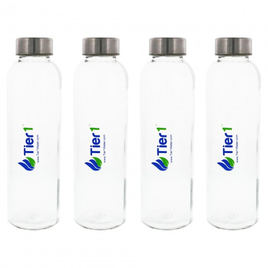 48,000 Grain Capacity Water Softener + 5-Stage Reverse Osmosis Drinking Water Filter System and 4 Glass Water Bottles by Tier1 (Glass Water Bottles)