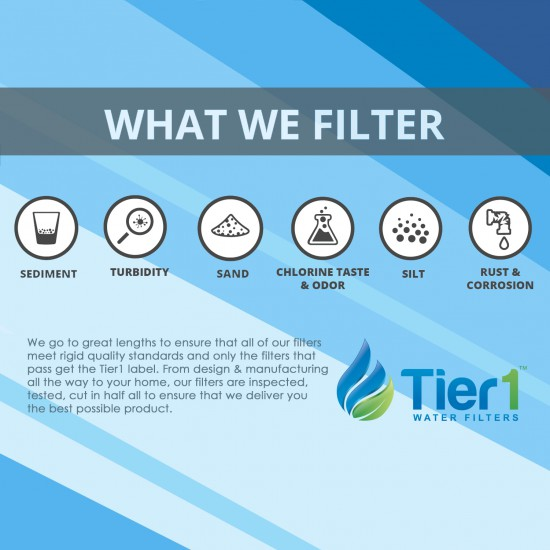 GSWF GE Comparable SmartWater Filter Replacement By Tier1 (What We Filter)