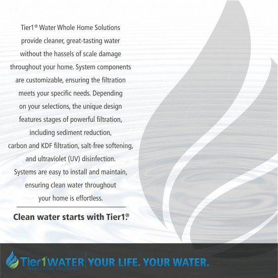 Series 8000 Whole Home Carbon and KDF + UV Water Purification and Salt Free Water Softening System by Tier1 (Your Life, Your Water)